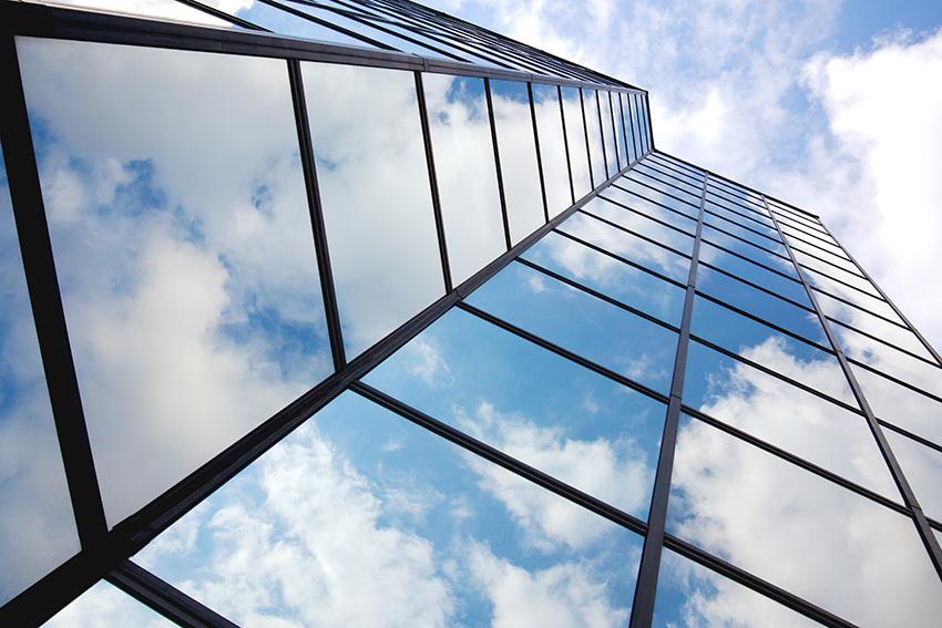 Wolken in reflectie